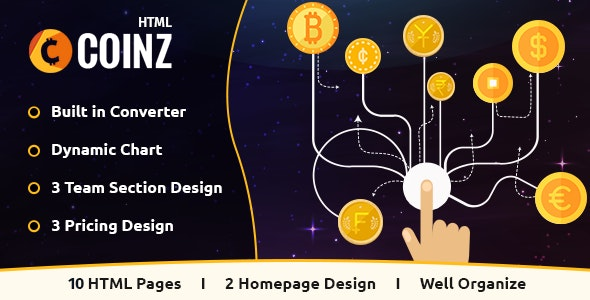 What is Coinz  - Crypto Currency HTML Template